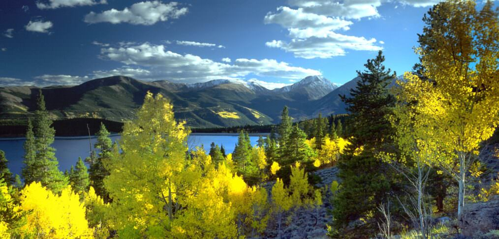 The Twin Lakes near Aspen where The Human Shift is located