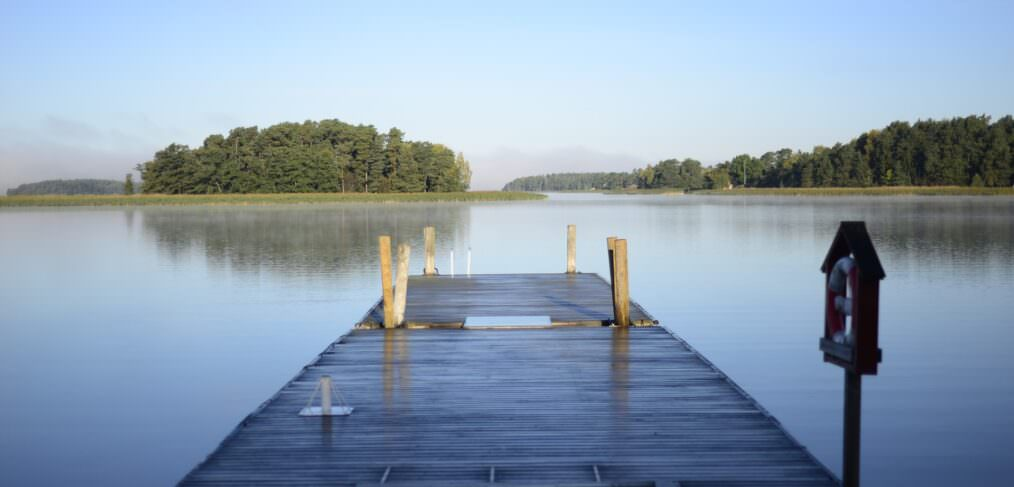 a lake house dock