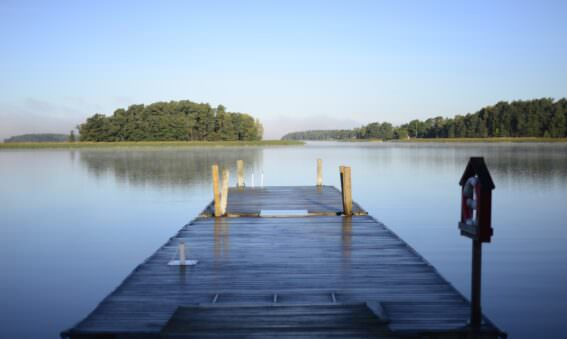 a lake house dock
